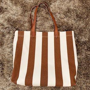 ef7566b73ae80 Madewell Bags - NWT Madewell Stripe Canvas Tote